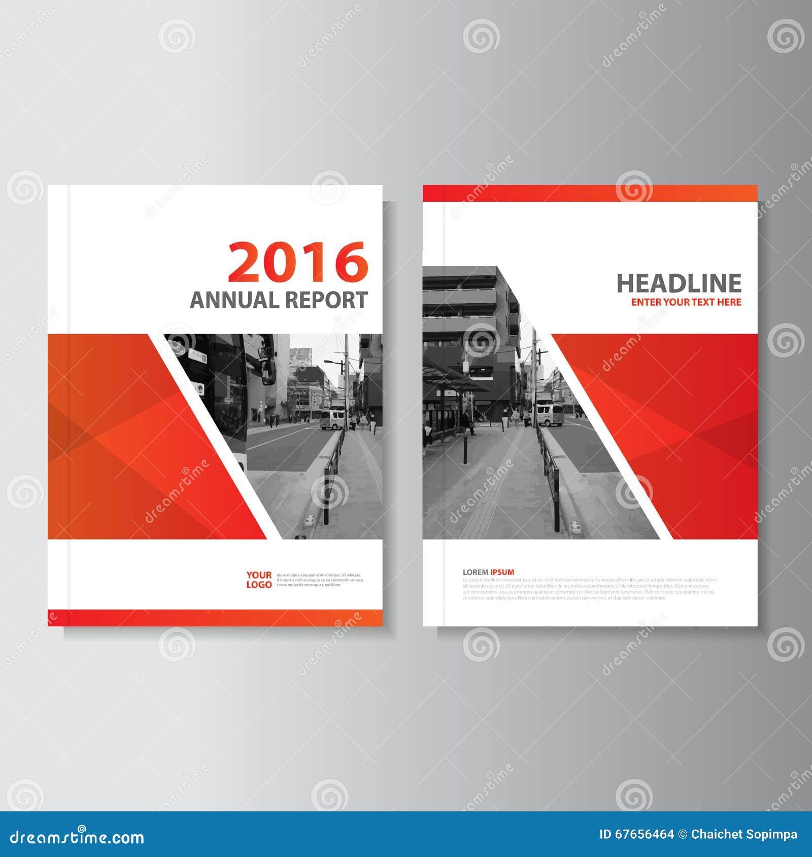 Projeto vermelho do molde do inseto do folheto do folheto do compartimento do informe anual do vetor, projeto da disposição da ca