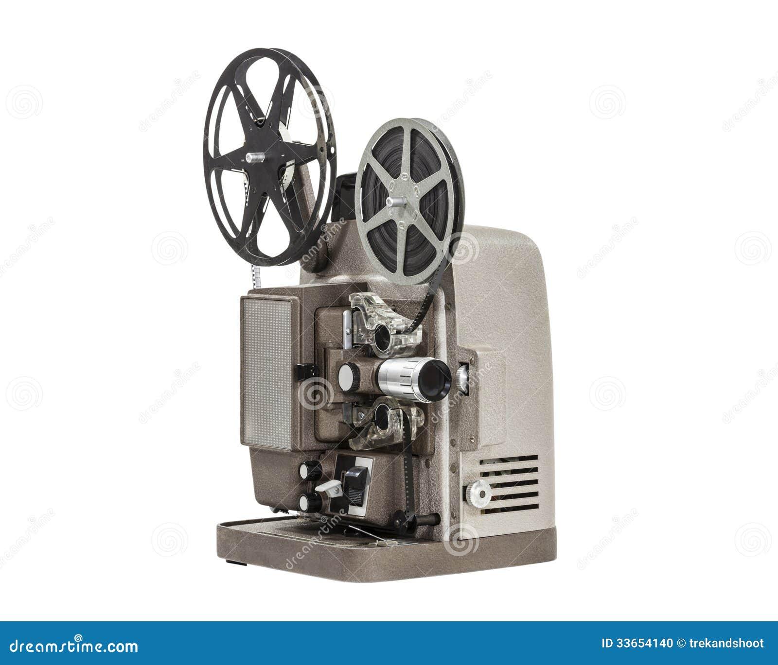 Projetor de filme caseiro do vintage