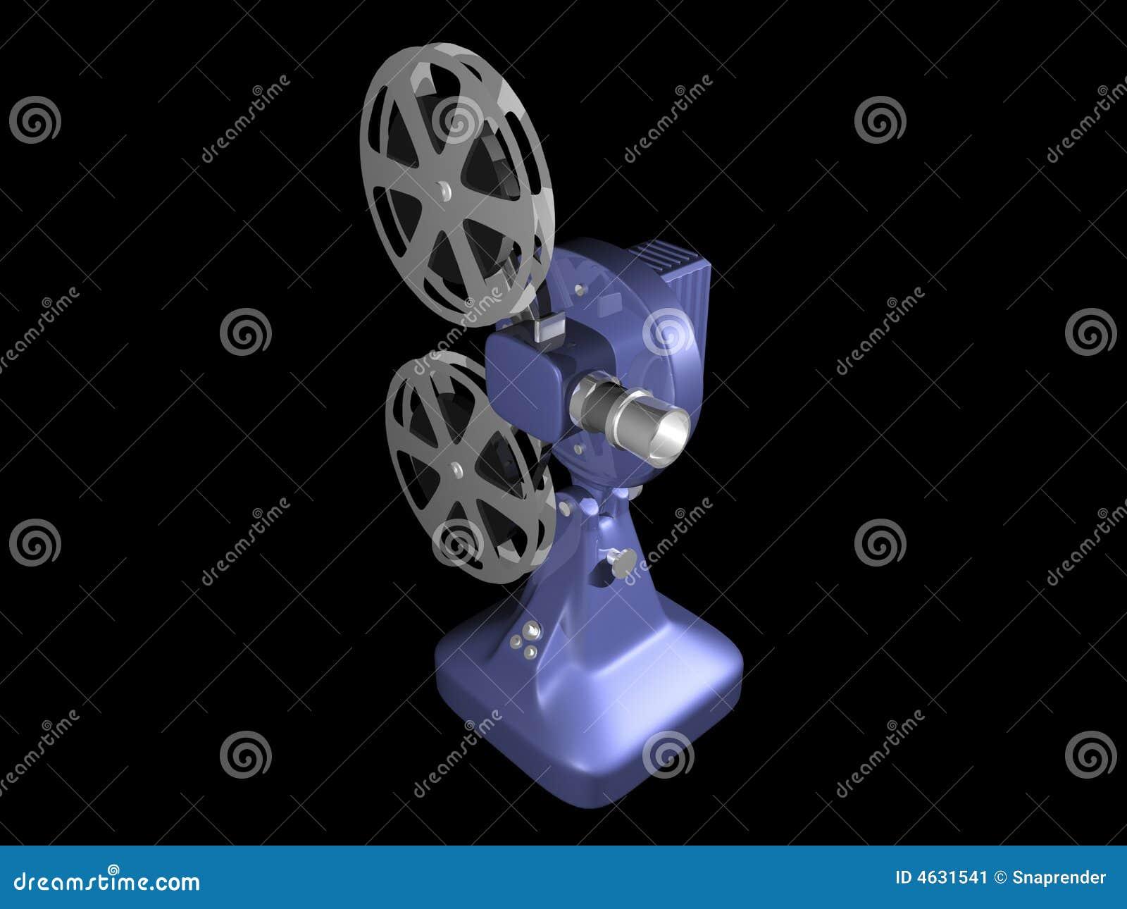 Projetor de película azul