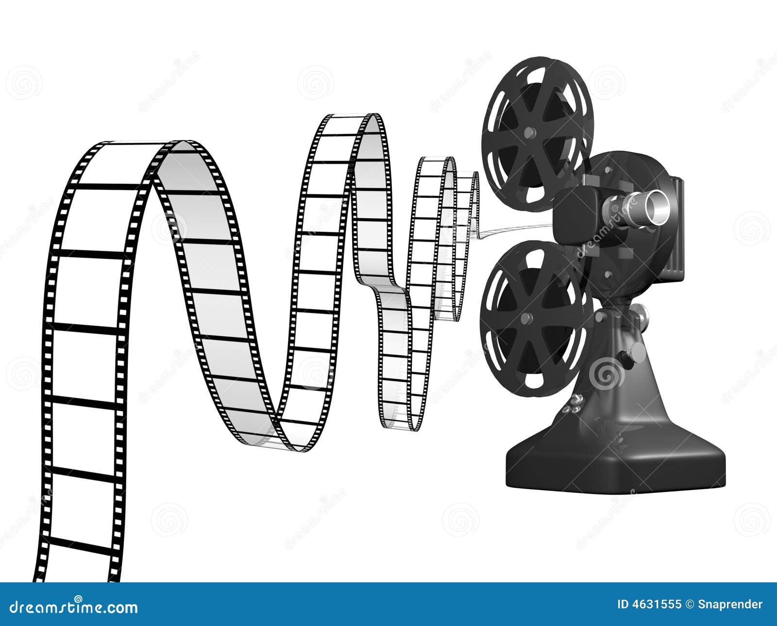 Projetor de película com película