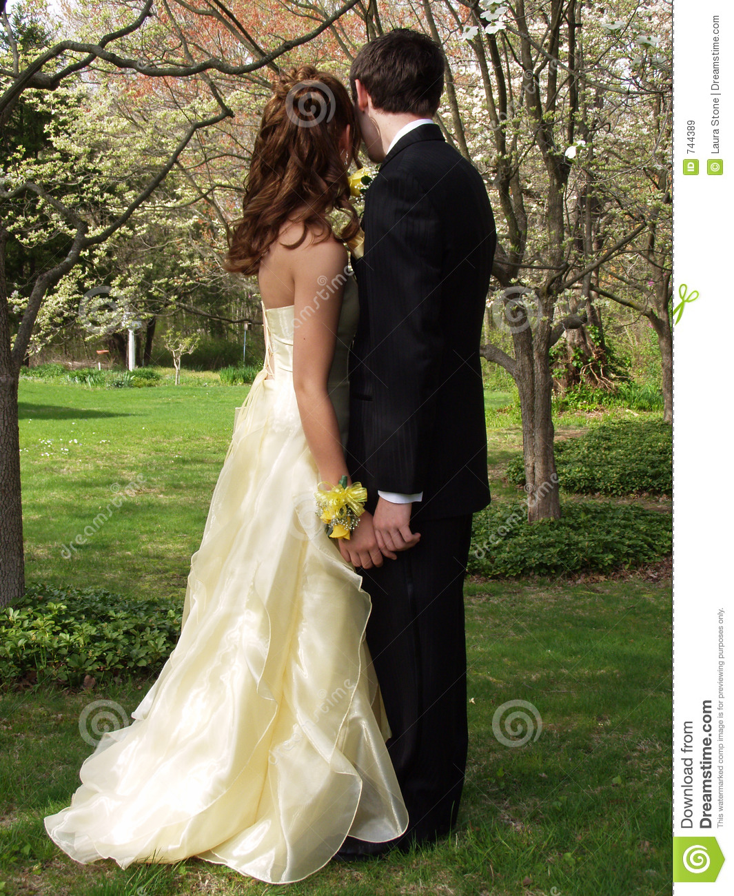 Prom Couple Stock Image. Image Of Gown, Pastel, Holding