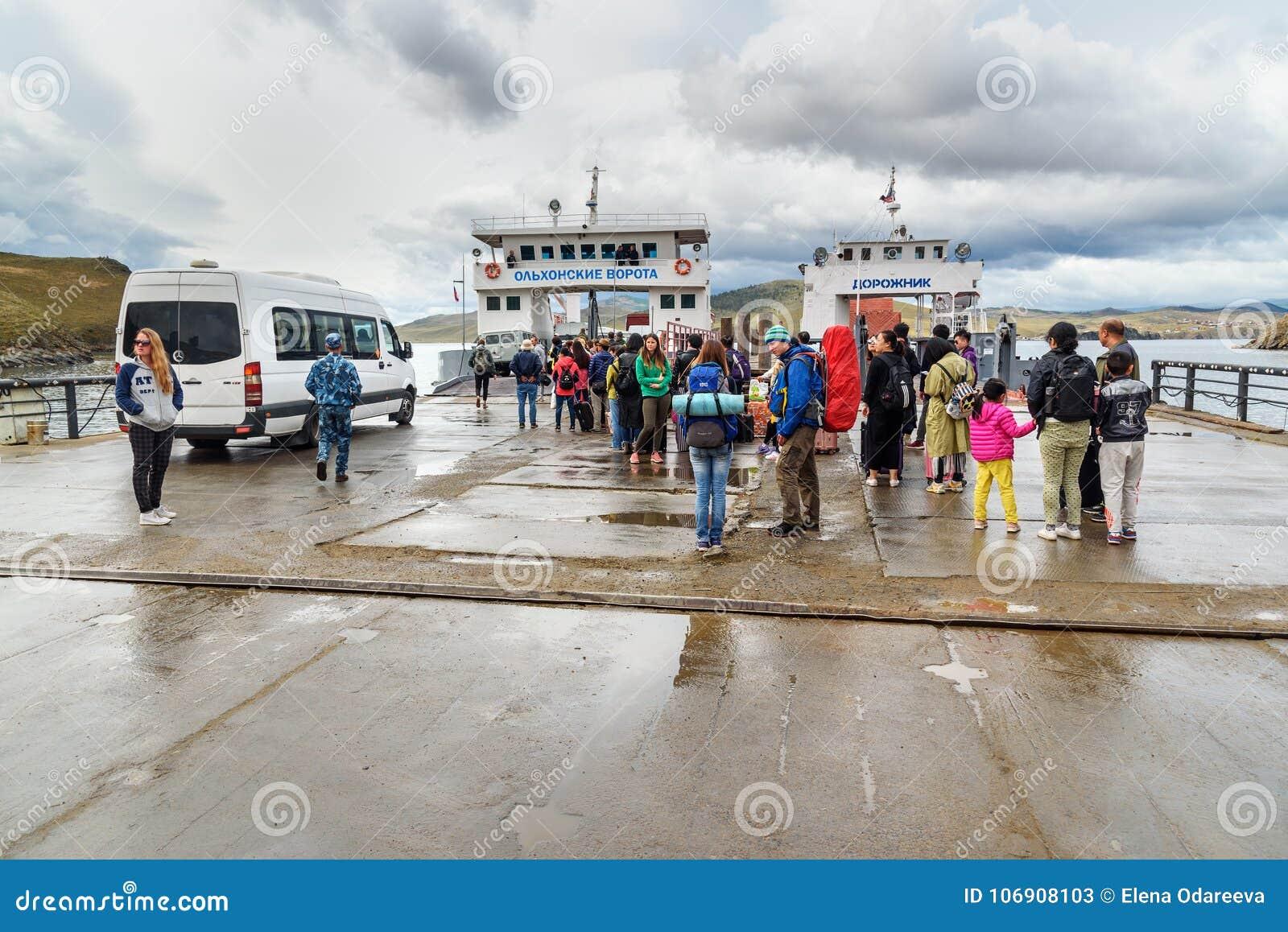 Prom przy molem Olkhon wyspa baikal jeziora Rosja