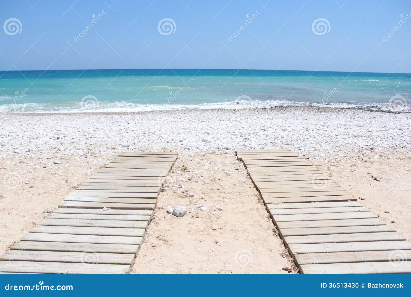 Promenade aan het strand Portugal