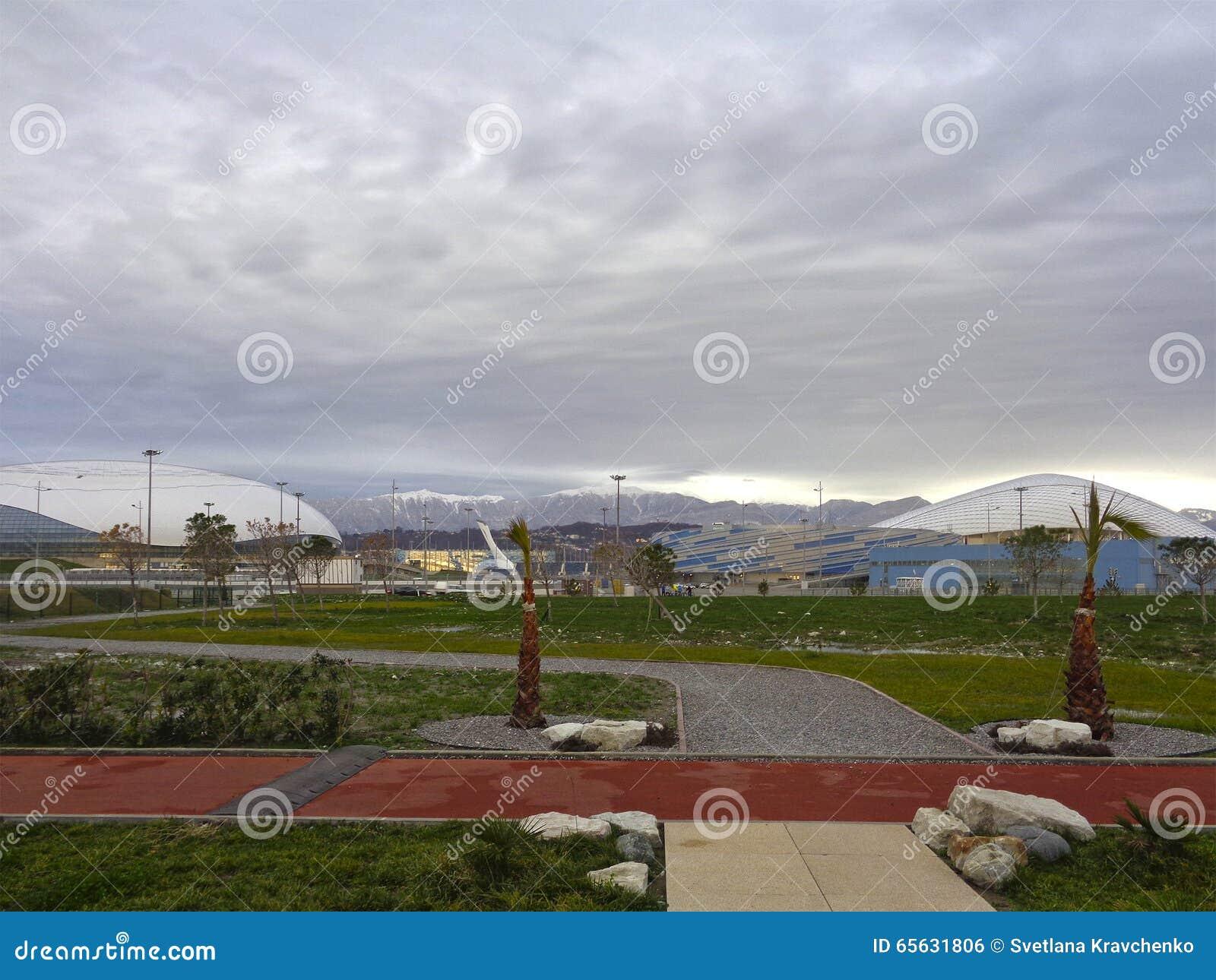 Promenade de bord de mer et parc olympique de Sotchi