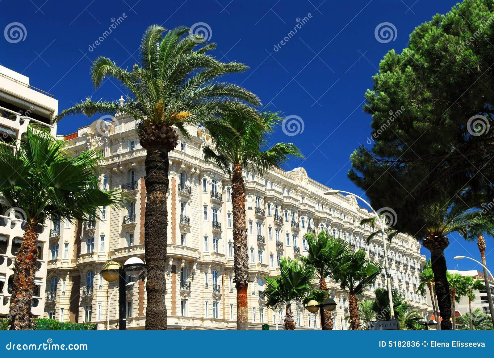 promenade  de Croisette en Cannes