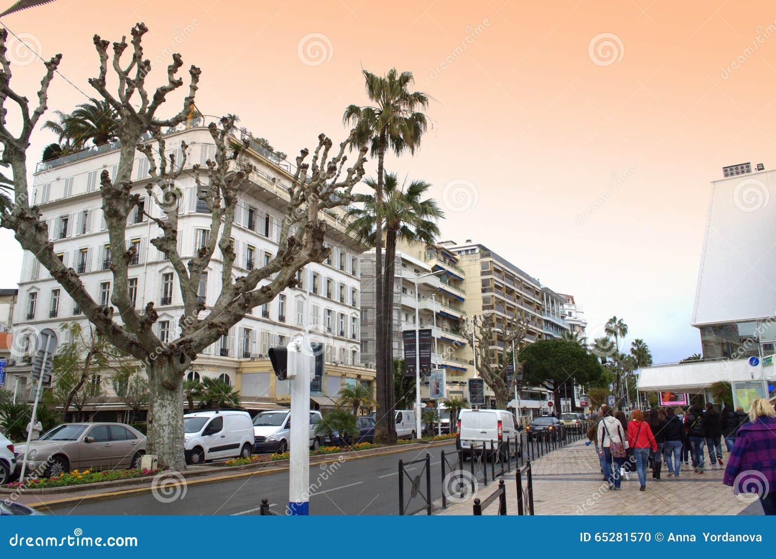 Promenade De La PantieroCannes Editorial Image Image of street