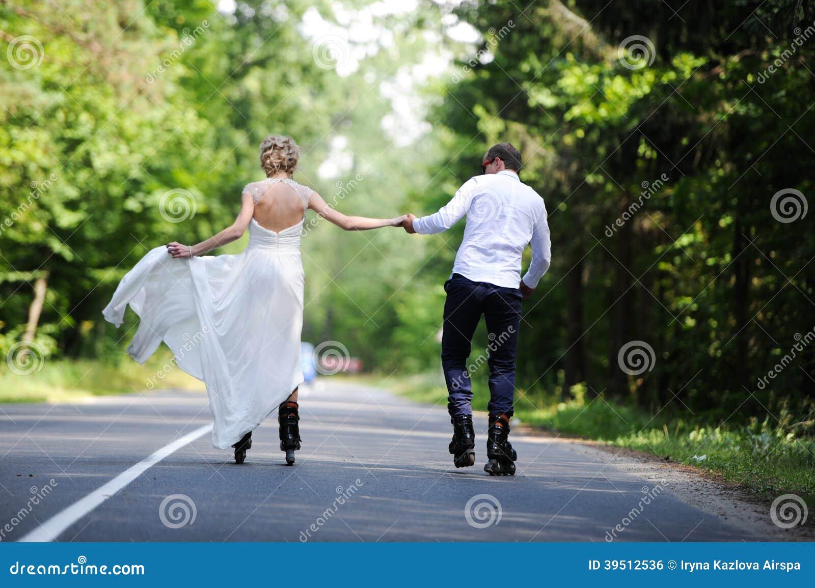 Promenade des amants sur un jardin