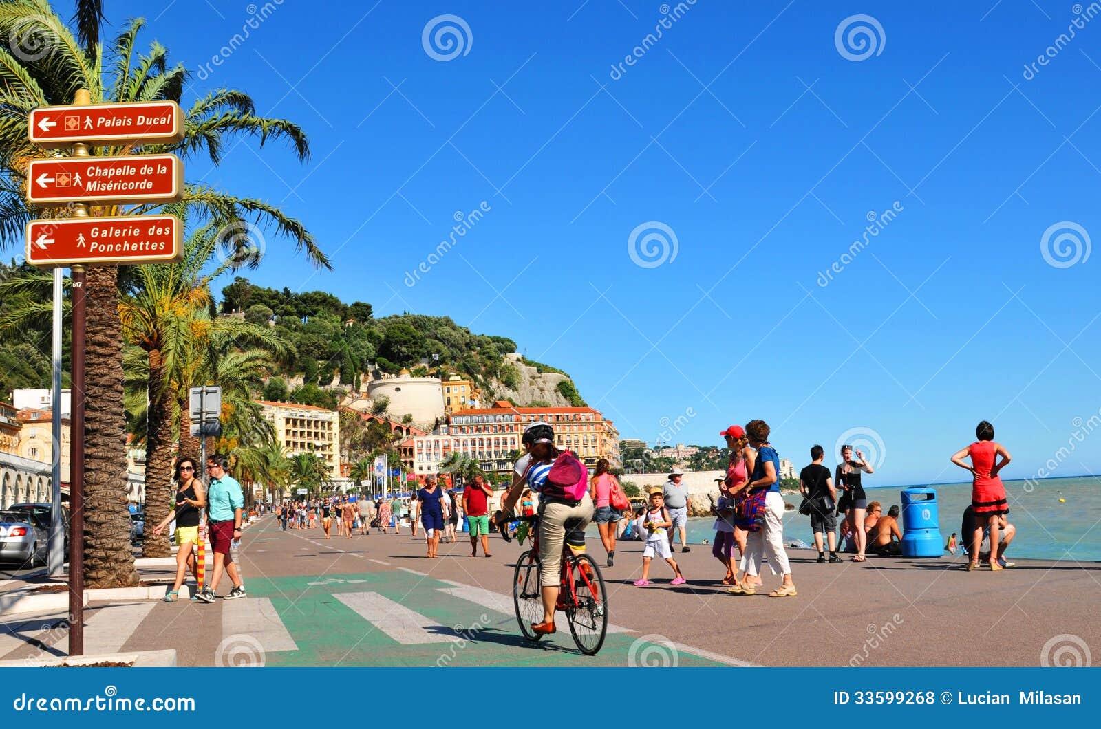 Promenade des Anglais en Niza, Francia