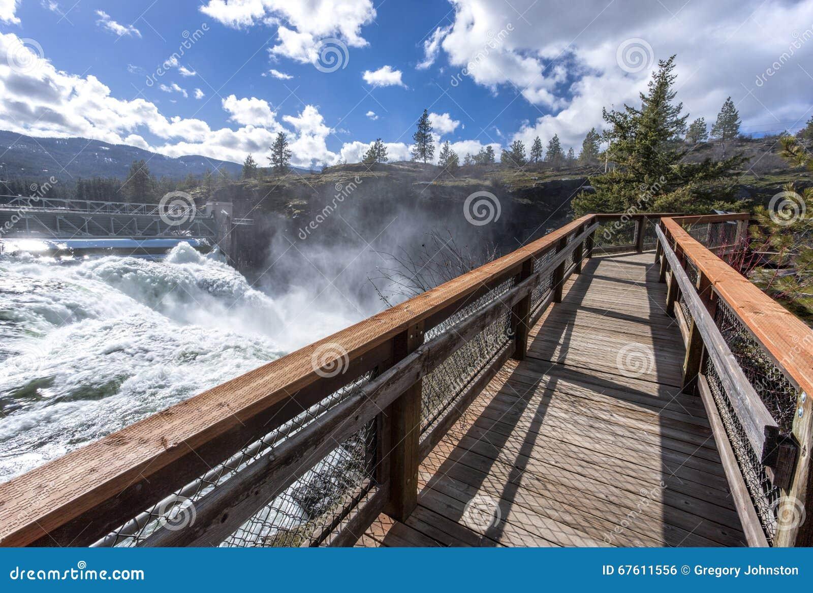 Promenade door de dam