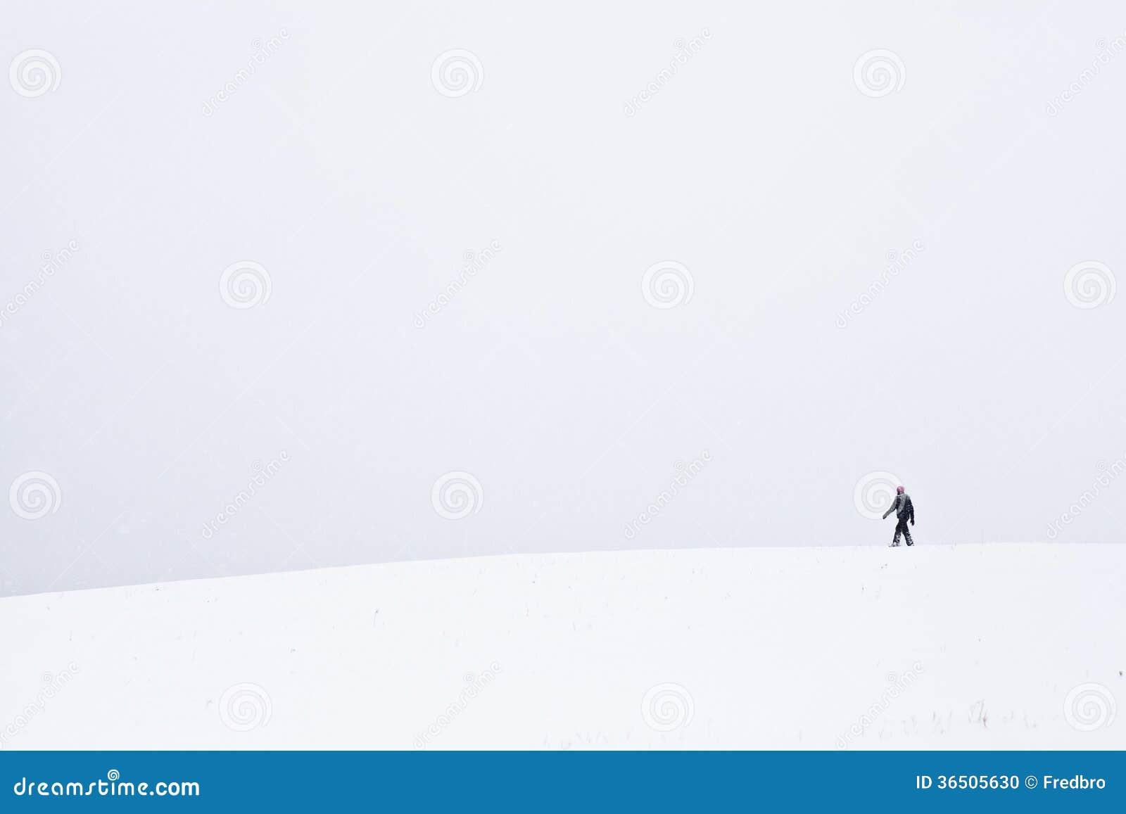 Promenade froide et isolée