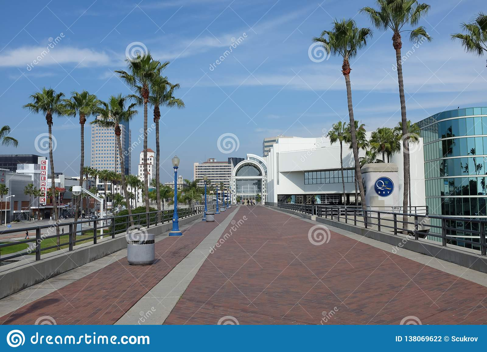 Promenade at the Long Beach Convention Center.