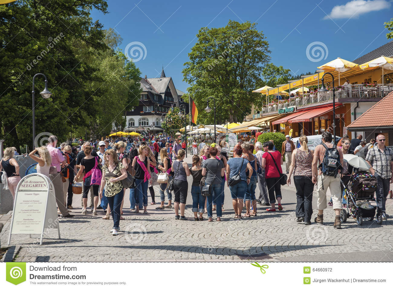 The Promenade In Titisee Neustadt Editorial Photography Image Of Precinct Destination 64660972