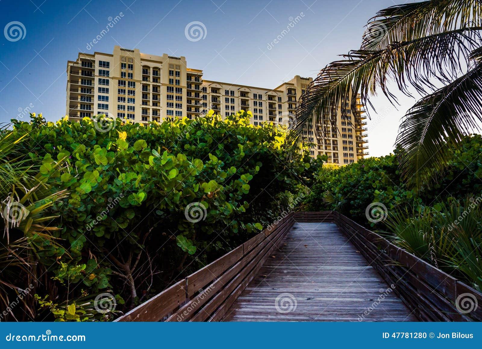 Promenadenspur und -hotel auf Sänger Island, Florida