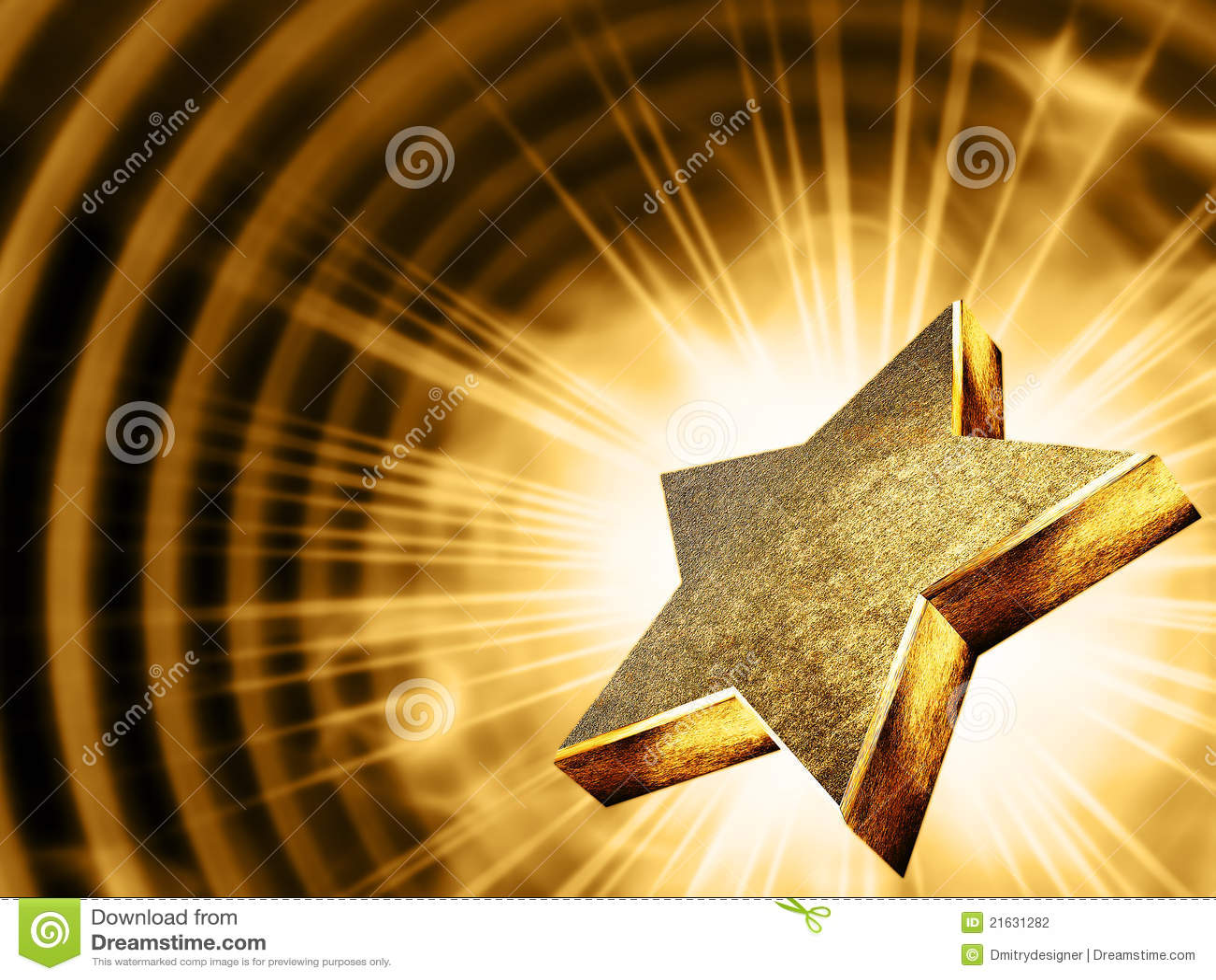 Promień złocista gwiazda