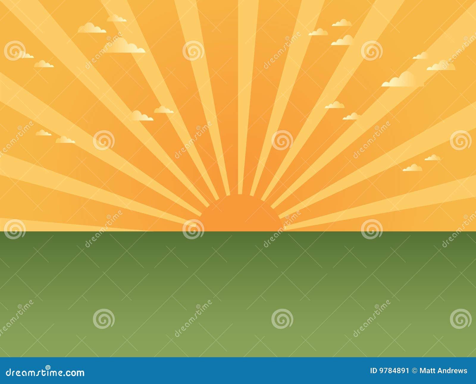 Promienia słońce