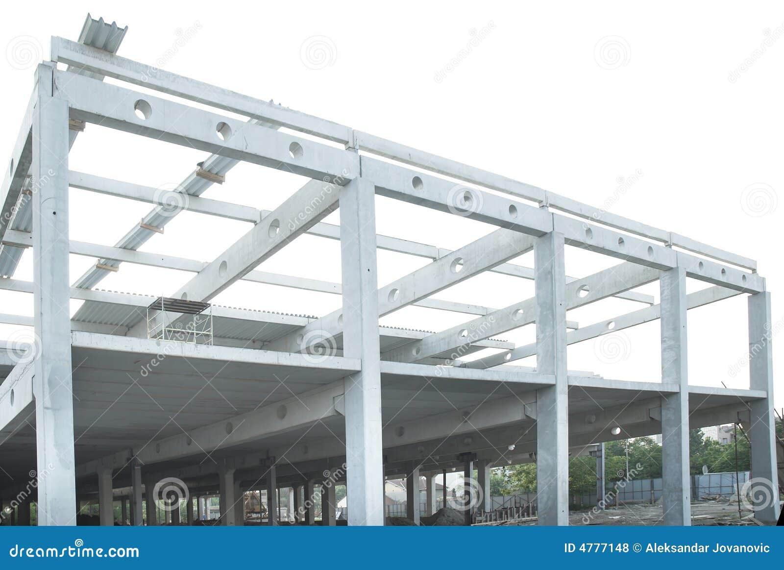 Promienie betonują budowy wspólnej stali