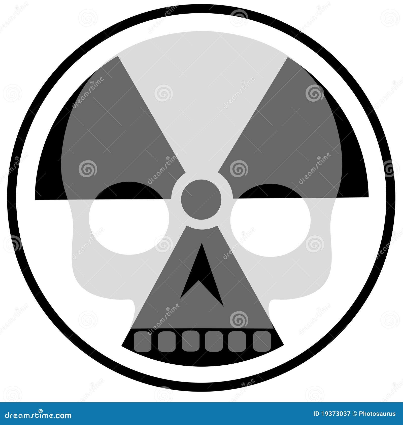 Promieniotwórczości czaszka
