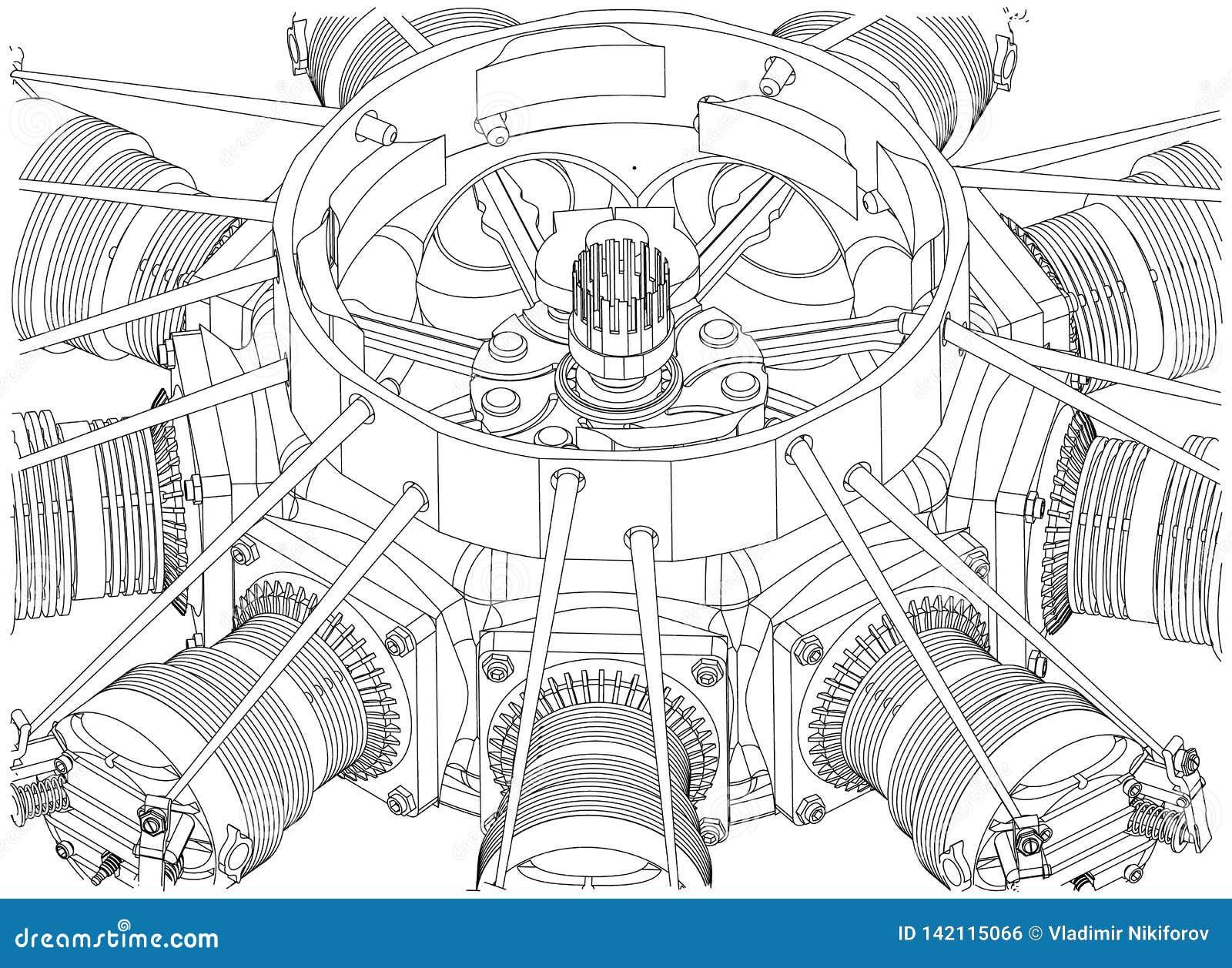 Promieniowy silnik na bielu