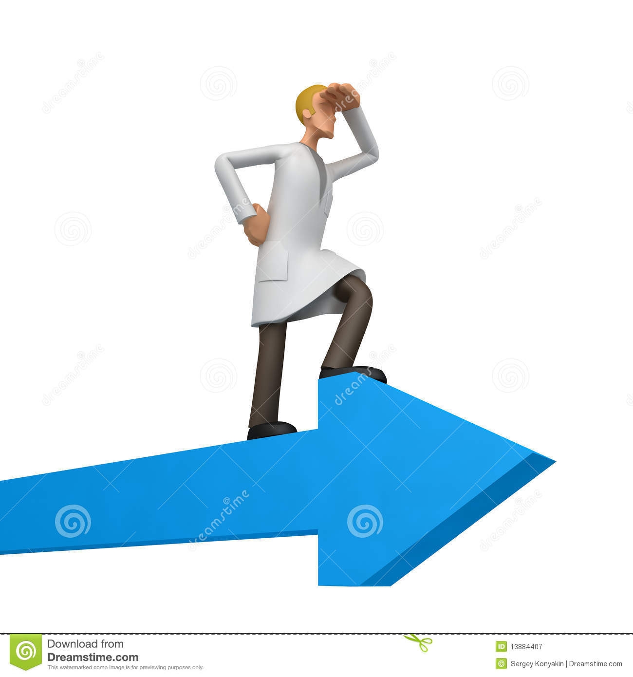 Illustration of an abstract character on a white background for use in ...
