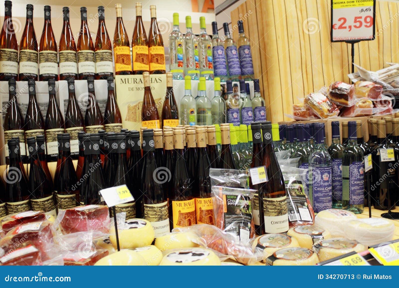 Promoções do vinho no supermercado