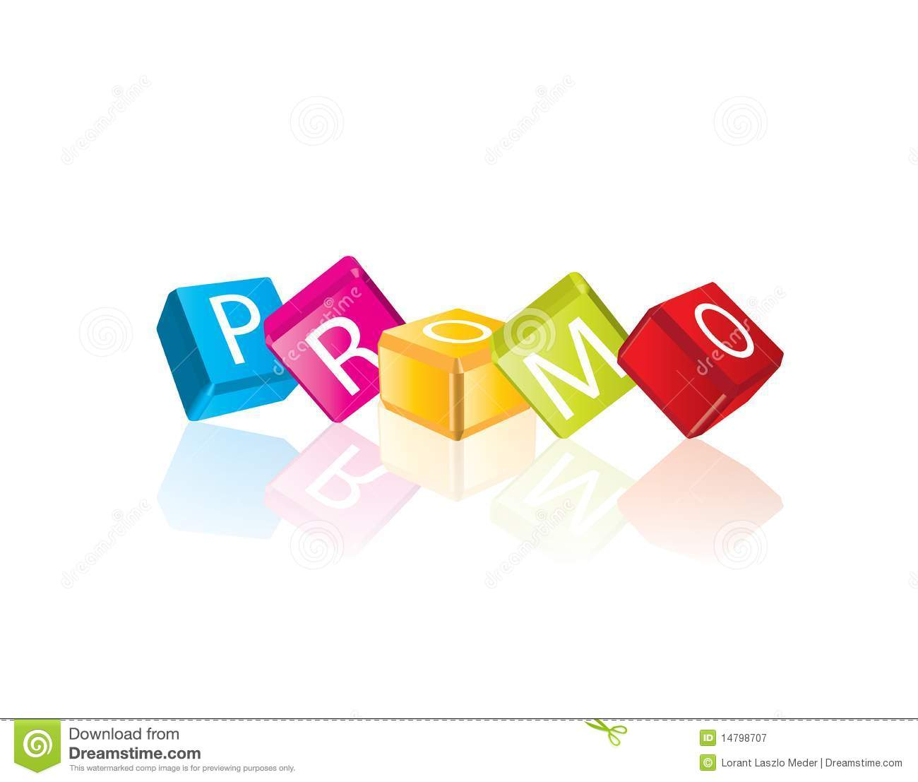 promo - cube letters royalty free stock photography