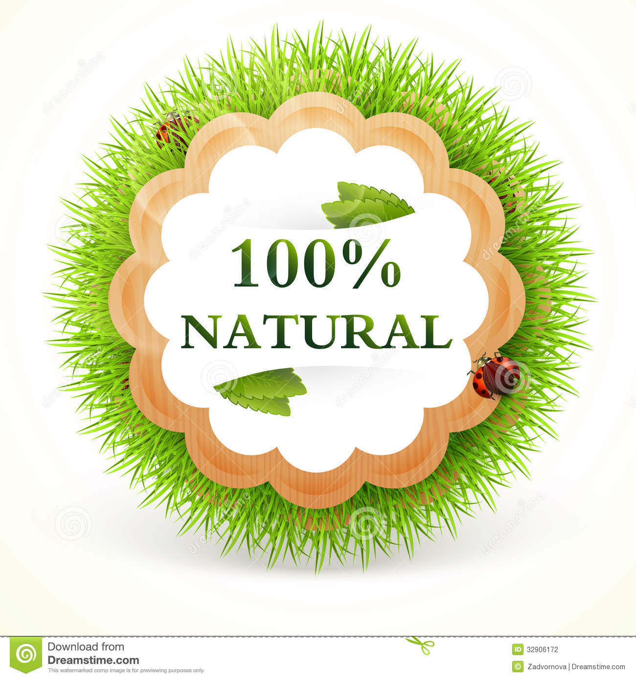 Promo sticker vector natural stock photography image for Gardening naturally coupon
