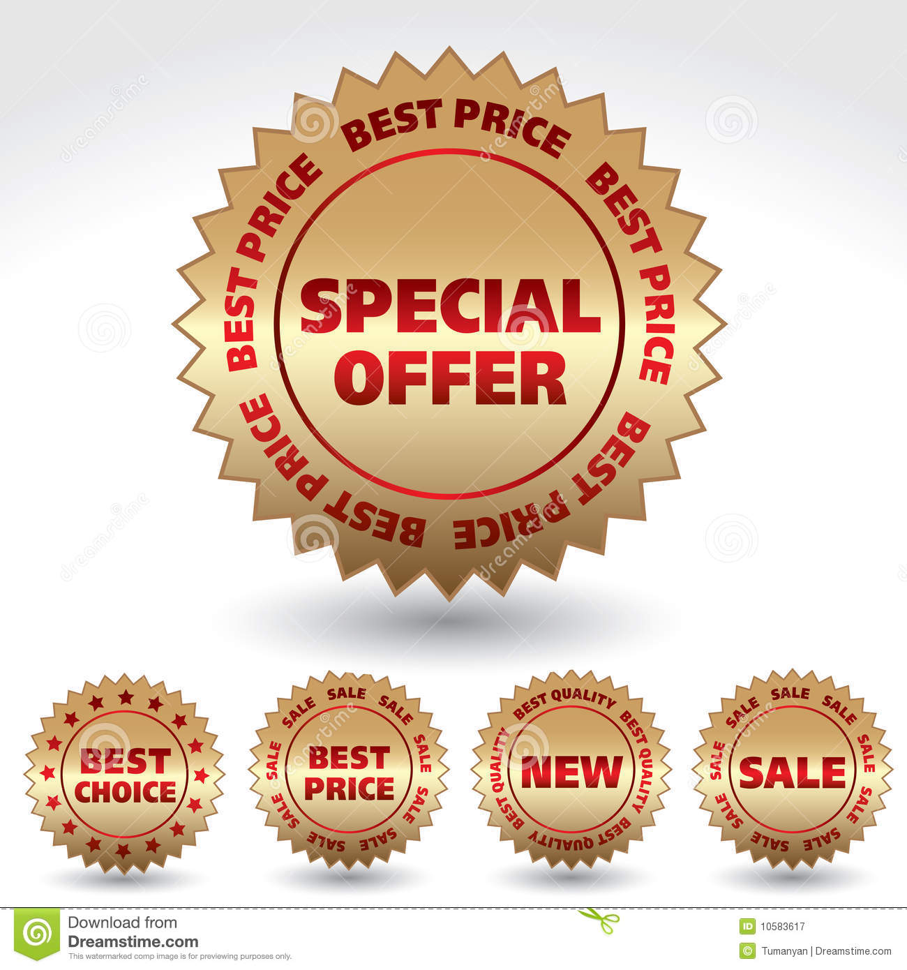 Promo Stickers Royalty Free Stock Photography Image