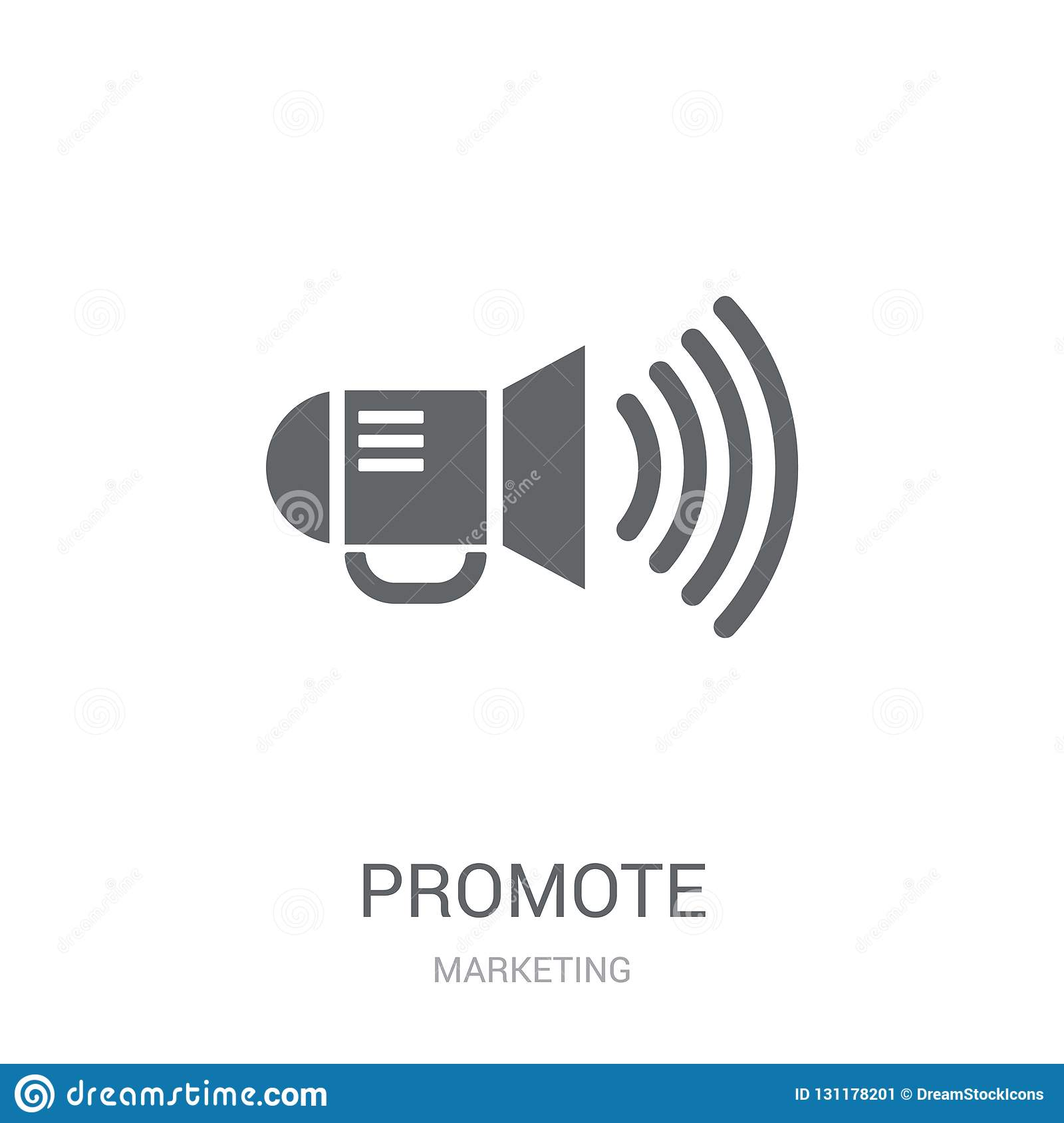 Promote icon. Trendy Promote logo concept on white background fr