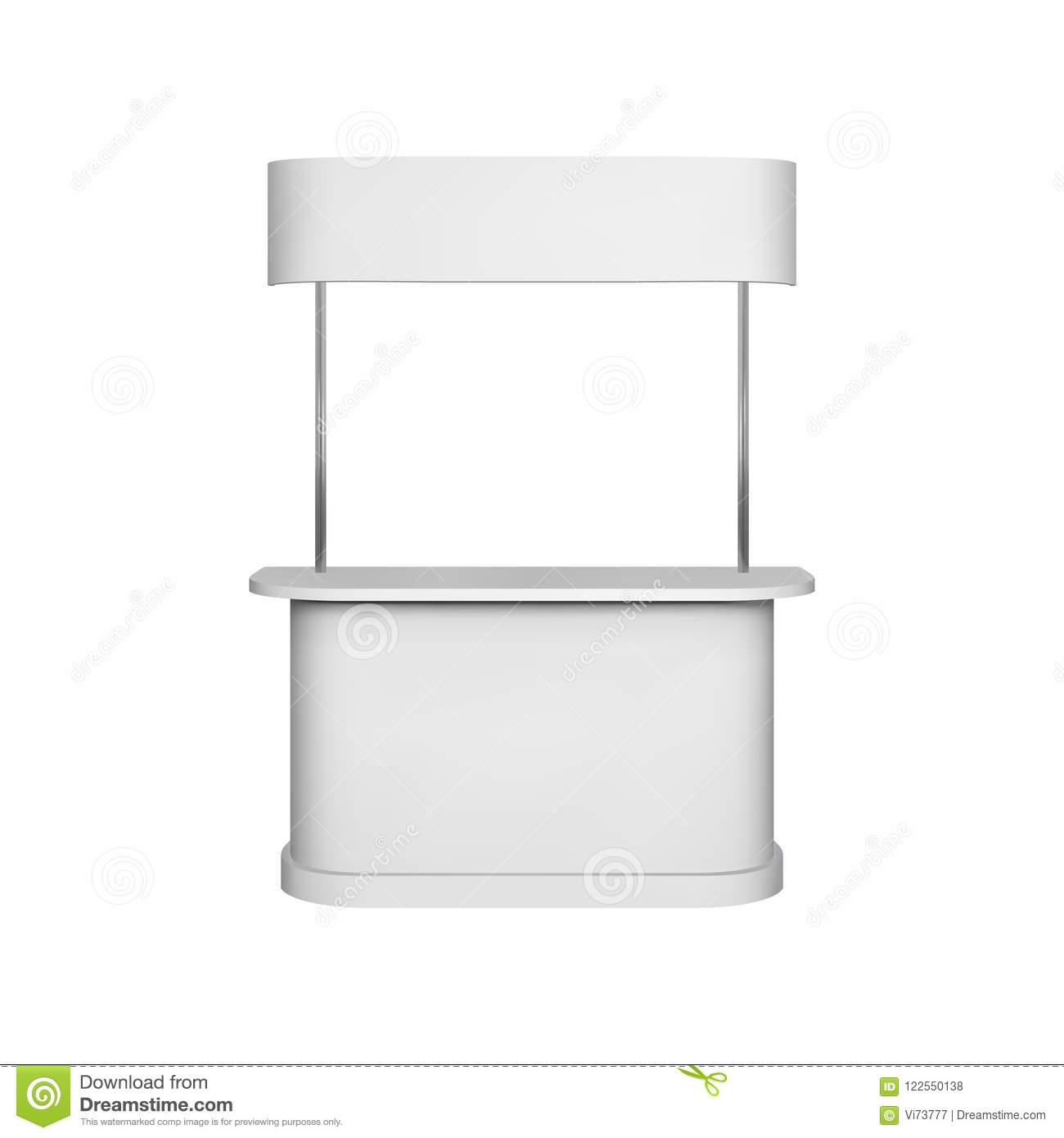 Exhibition Booth Mockup Free : Promotion counter mockup isolated vector retail trade