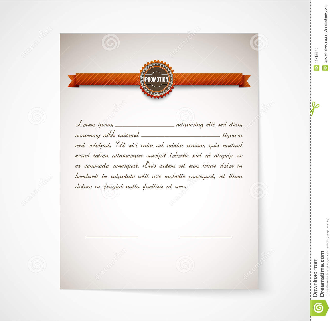 Promotion letter papper stock vector illustration of latter 21715540 promotion letter papper spiritdancerdesigns Image collections