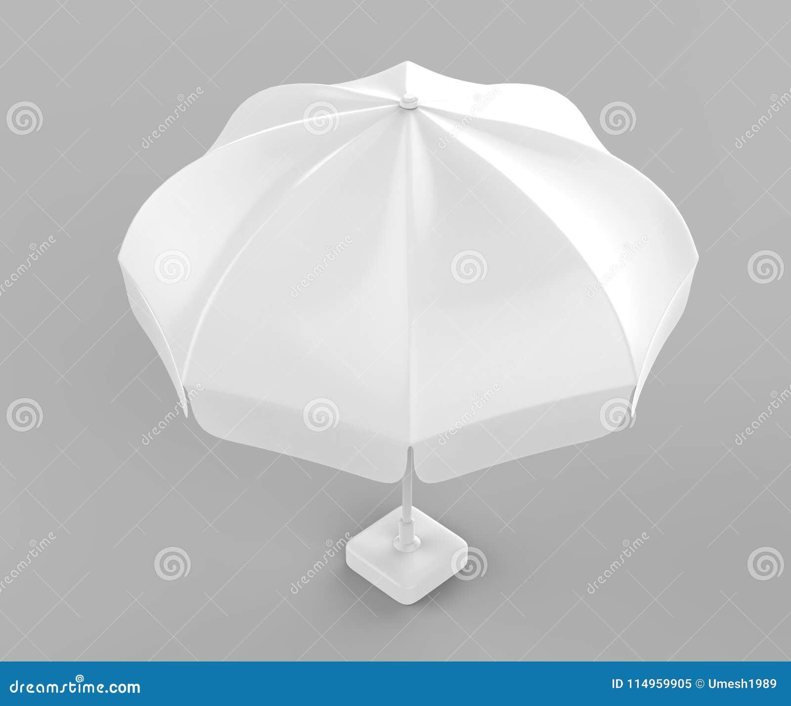 Promotional Aluminum Sun Pop Up Parasol Umbrella For Advertising 3d