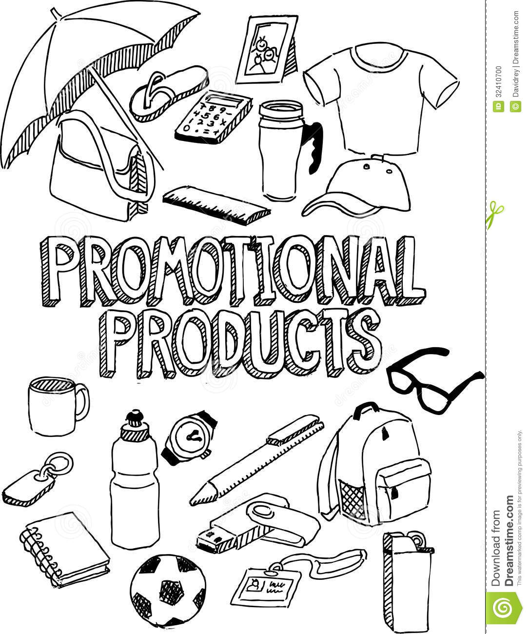 Promotional Products Doodle Stock Photo Image 32410700