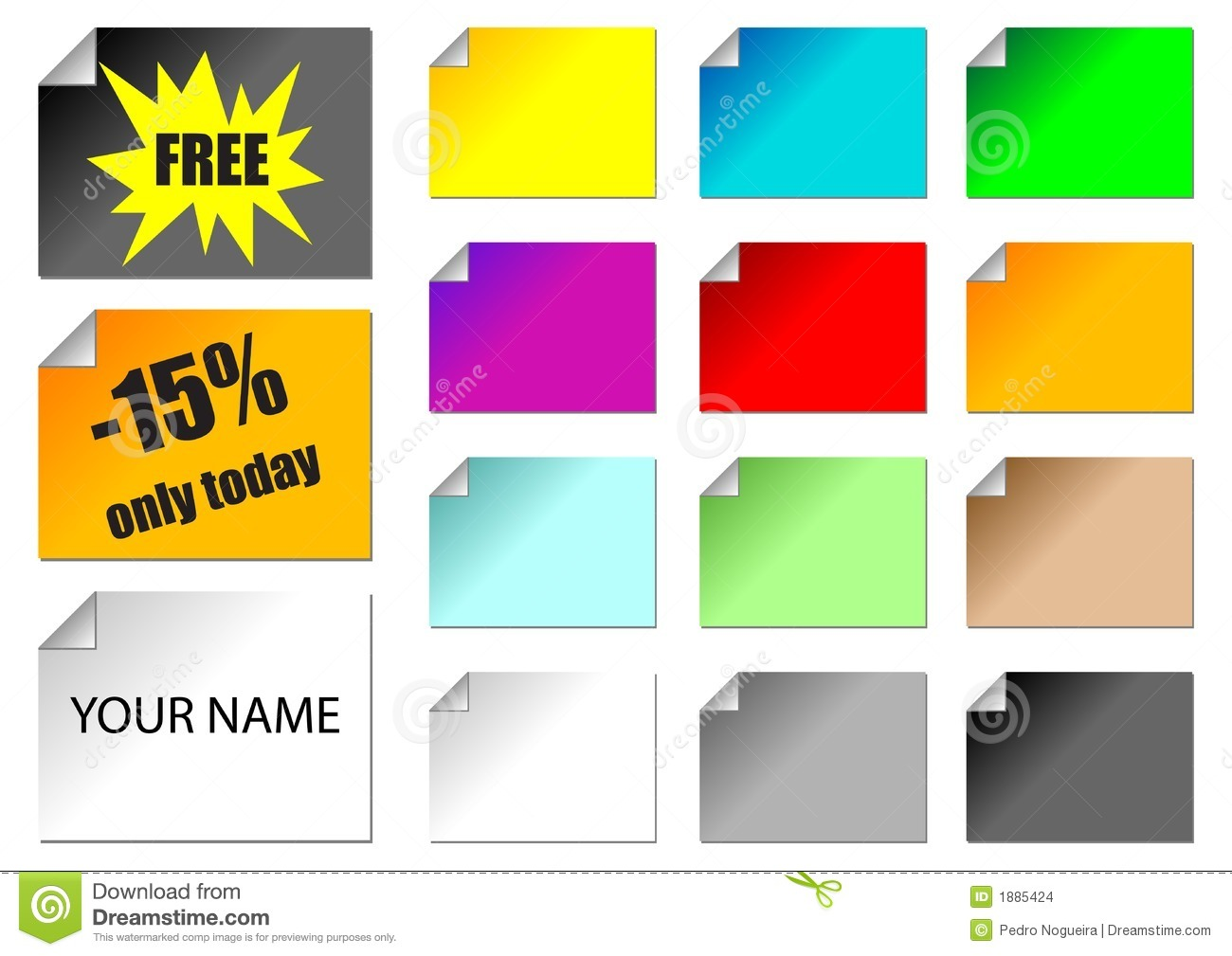 Promotional stickers stock vector  Illustration of name