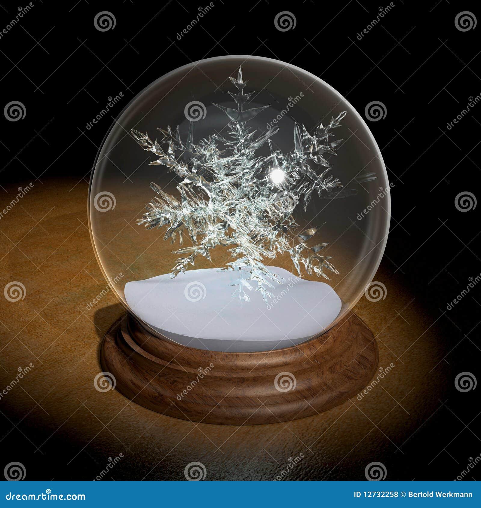 Pron stico cristal de la nieve de la bola fotos de archivo - Bola nieve cristal ...