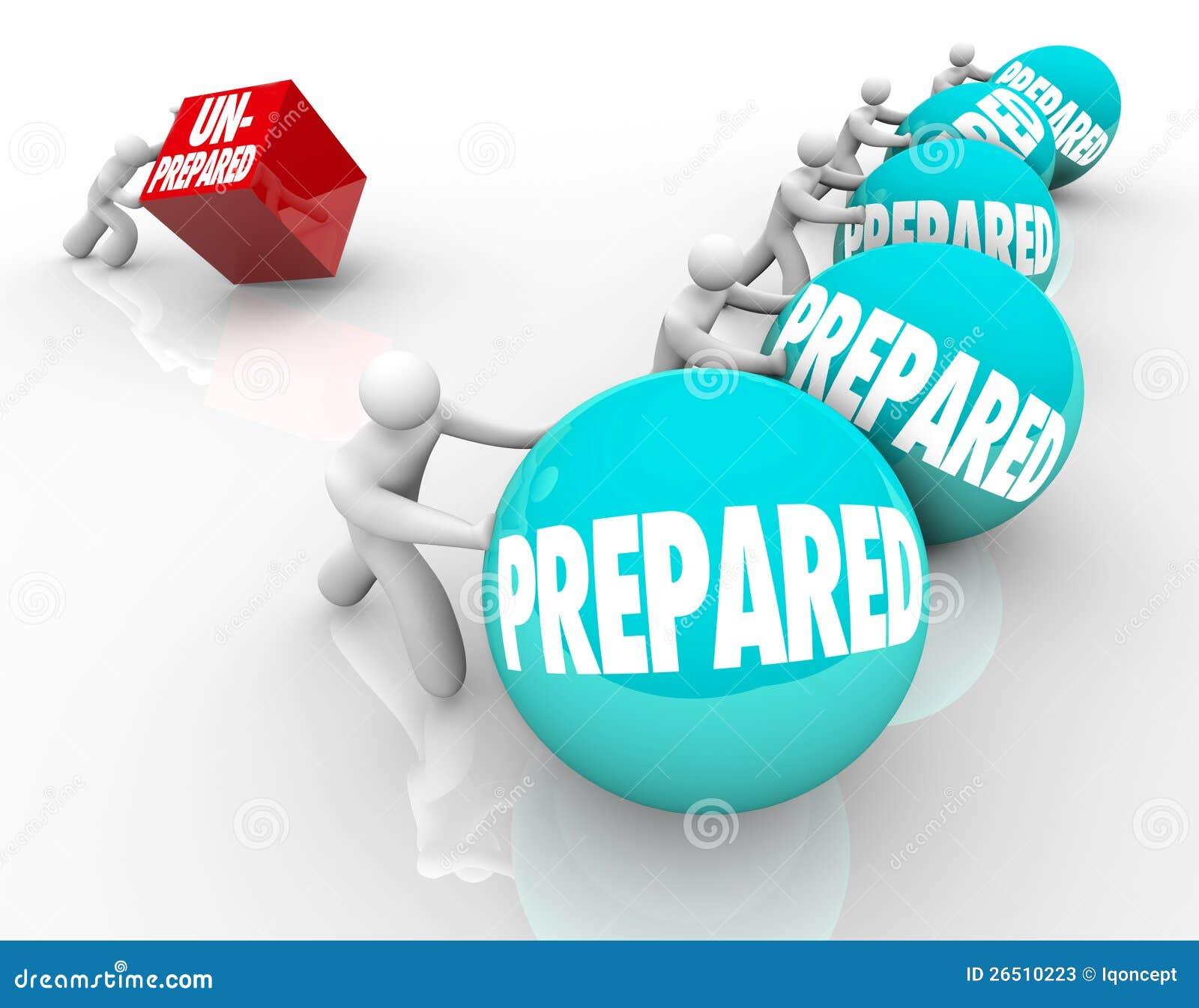 Pronto contro Unready pronto di vantaggio non preparato