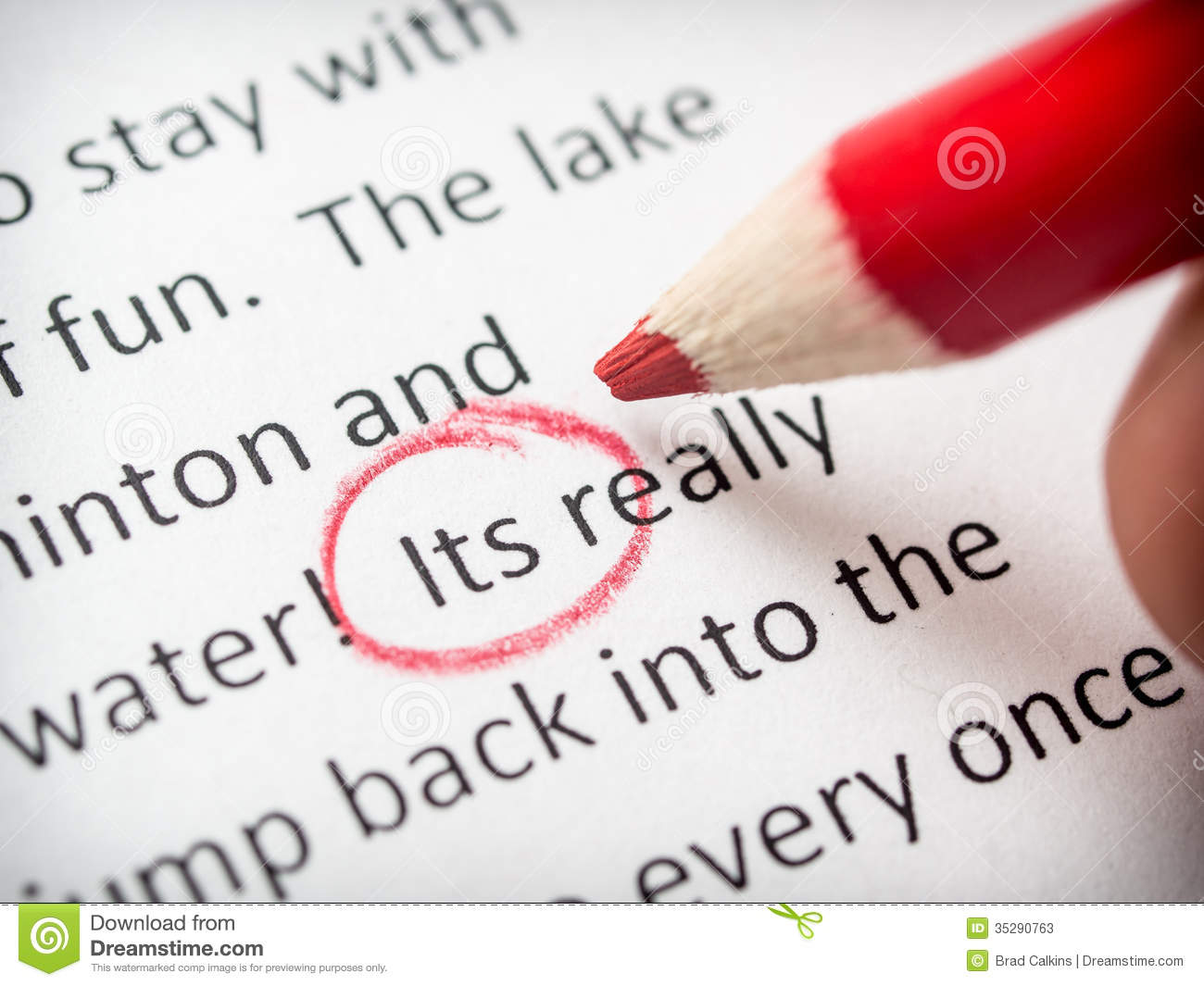 Proofreading Its Error Stock Photos - Image: 35290763