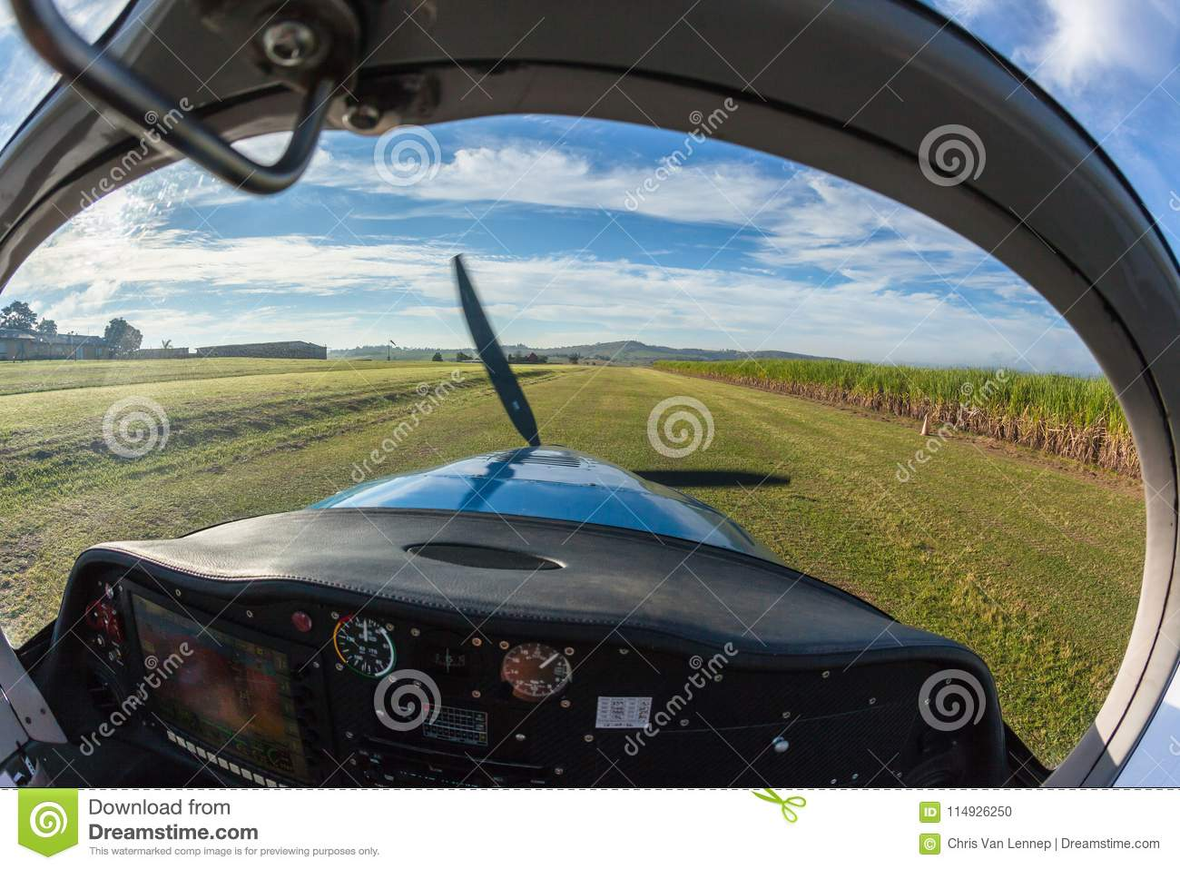 prop plane take off inside cockpit grass stock photo image of