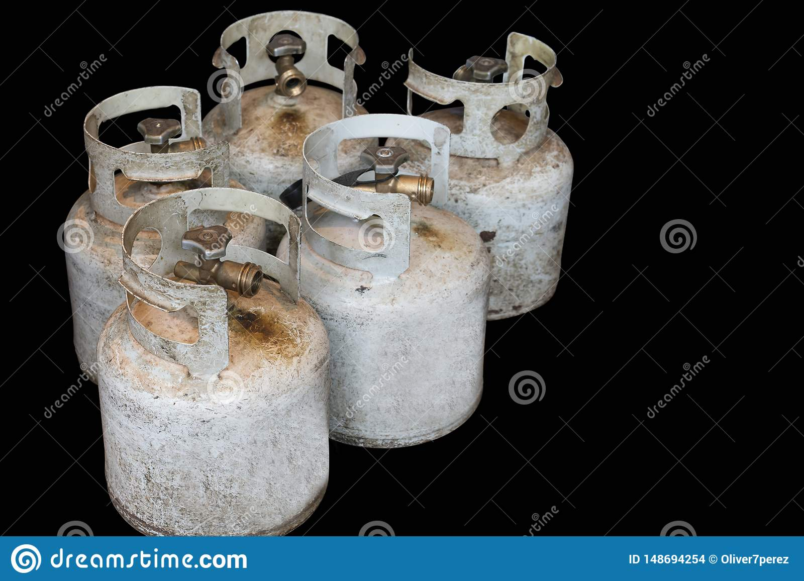 Propaancilinders die kokende brandstof houden