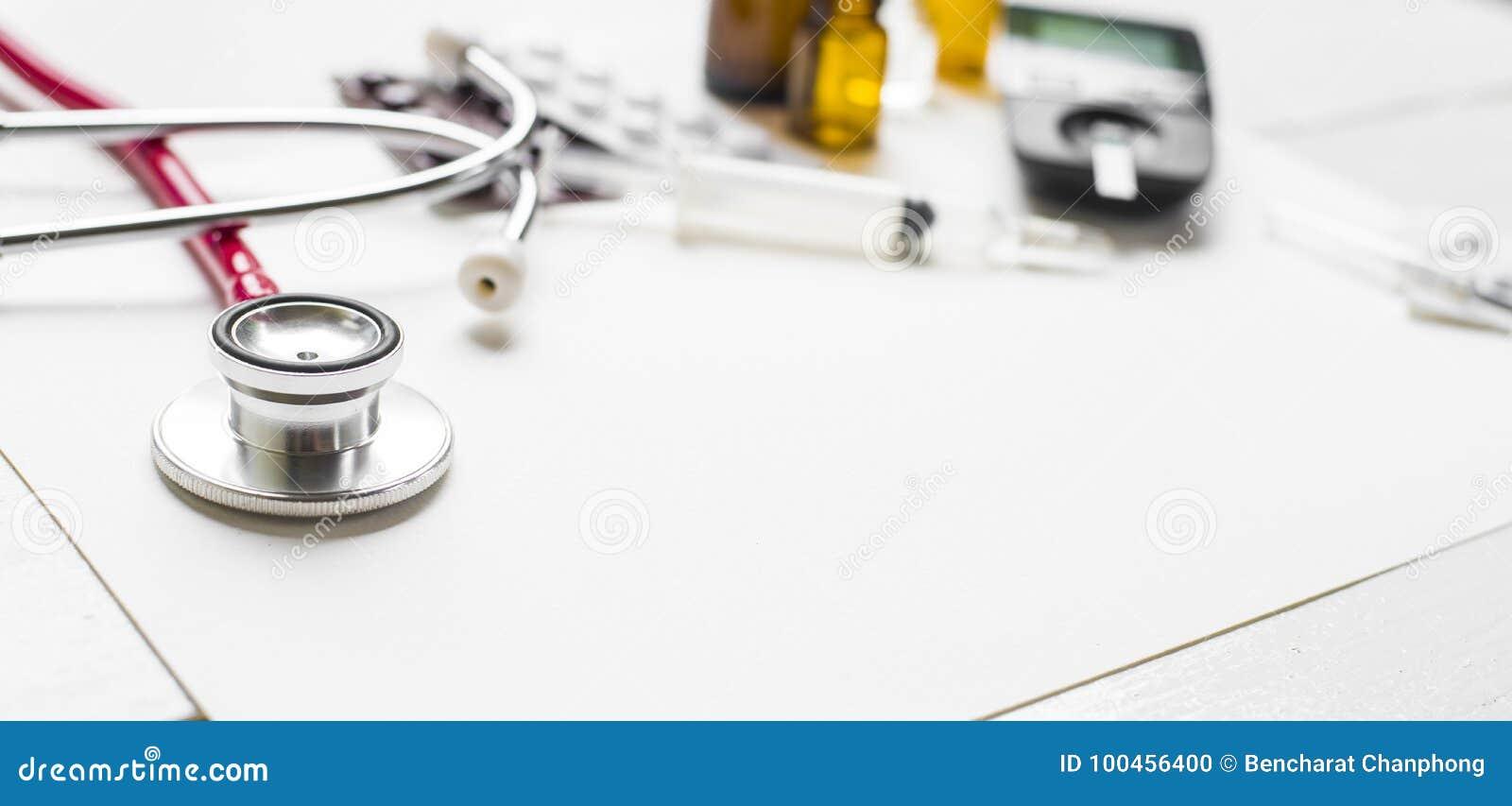 Propaganda do diabetes da medicina e conceito dos cuidados médicos
