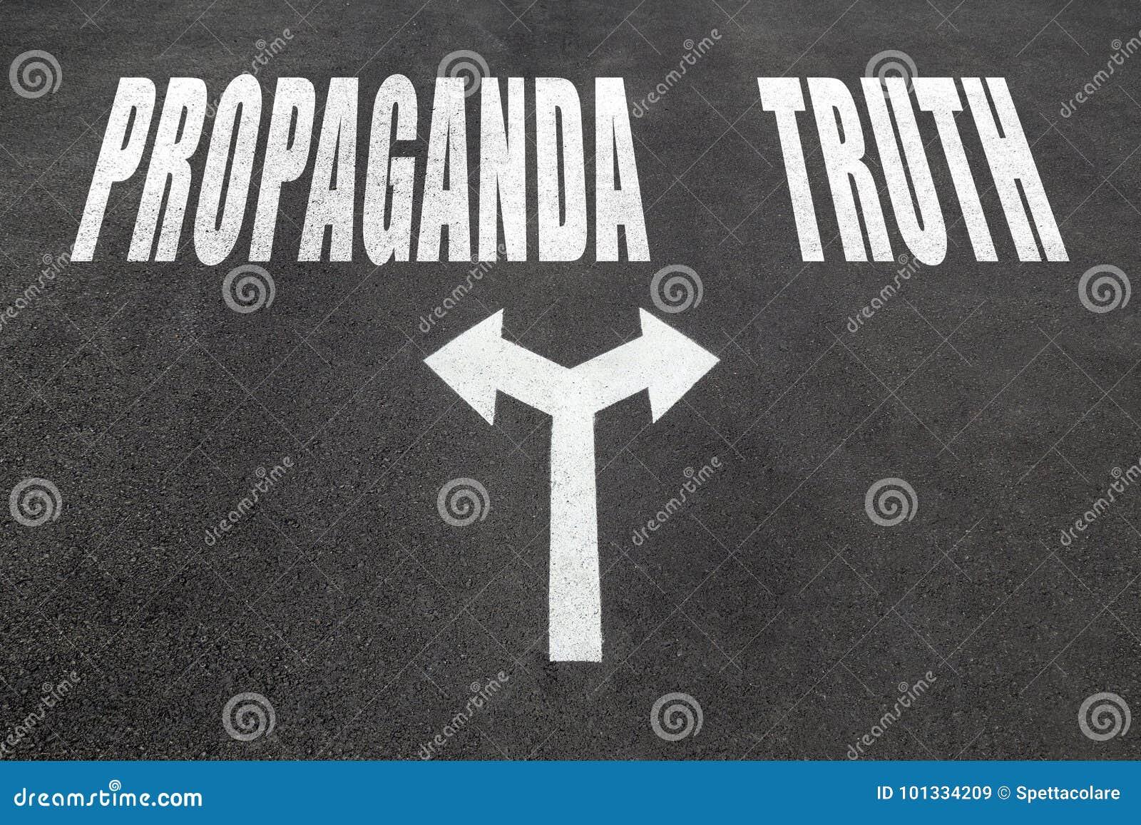 Propaganda gegen Wahrheitswahlkonzept