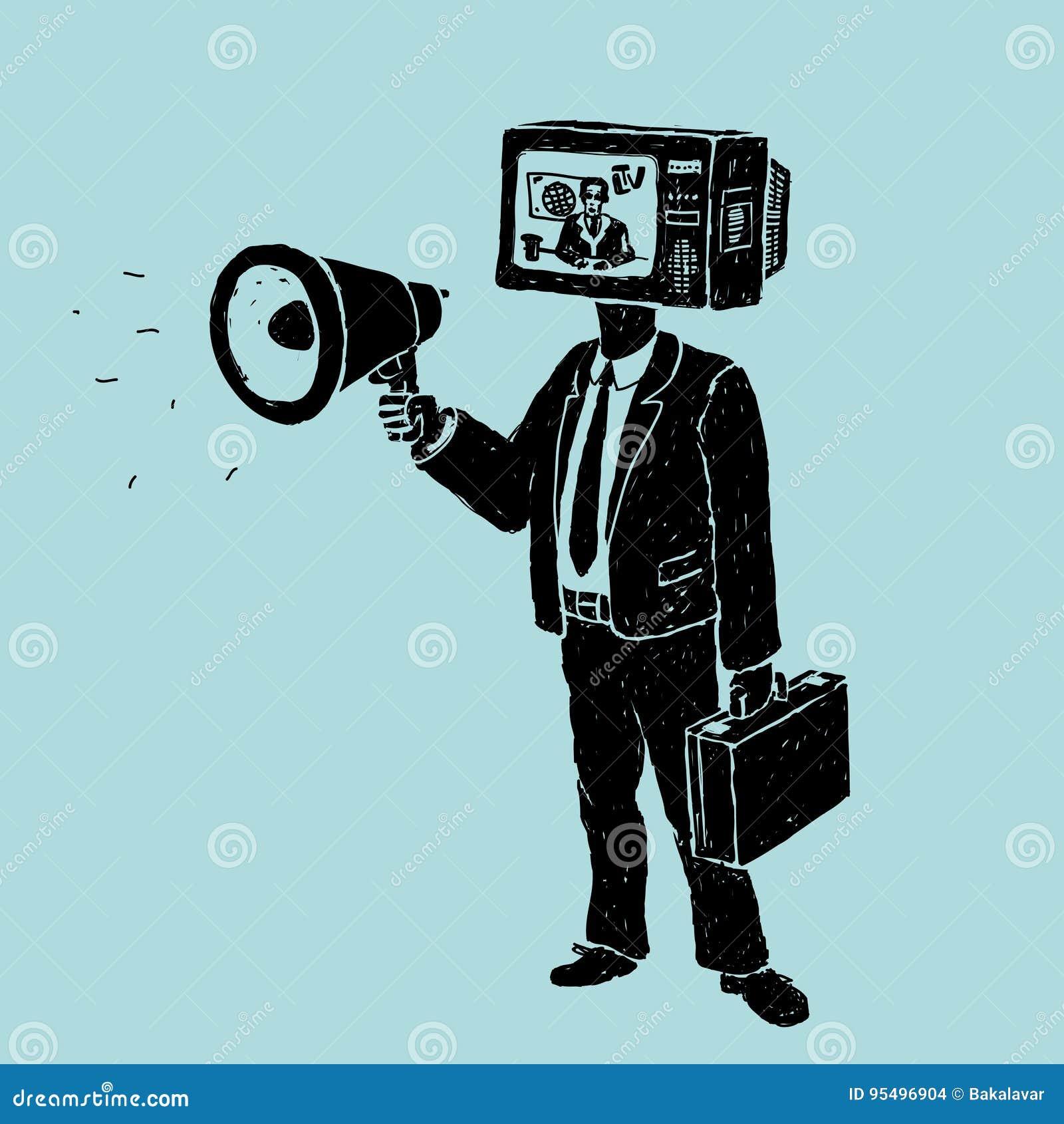 Propagande de TV et de haut-parleur