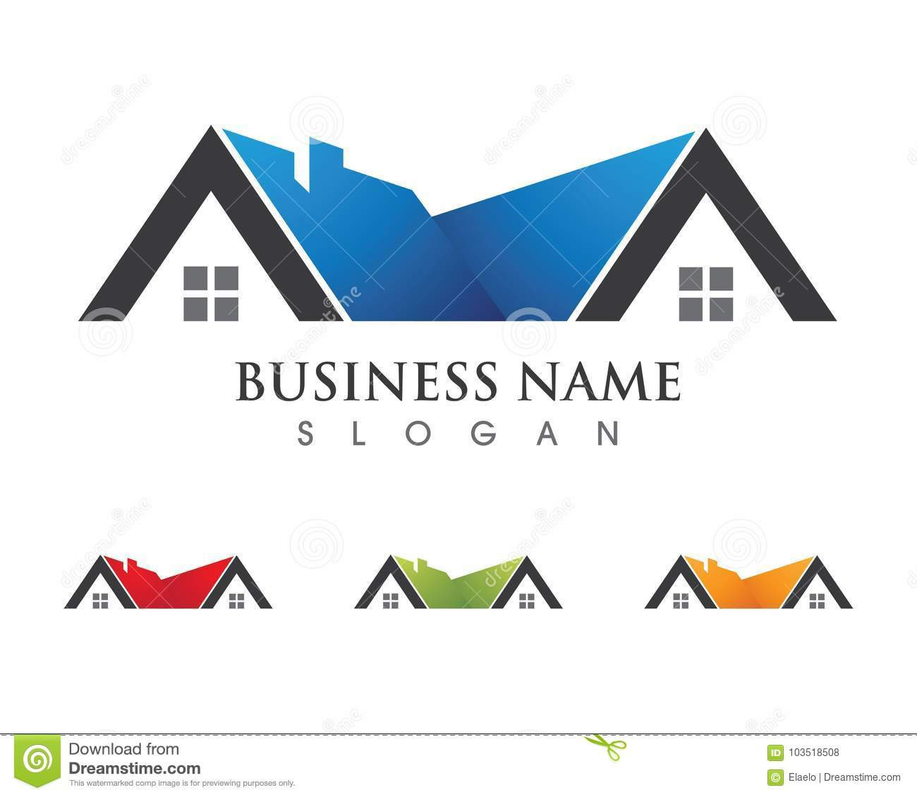 Property And Construction Logo Design Stock Vector Illustration