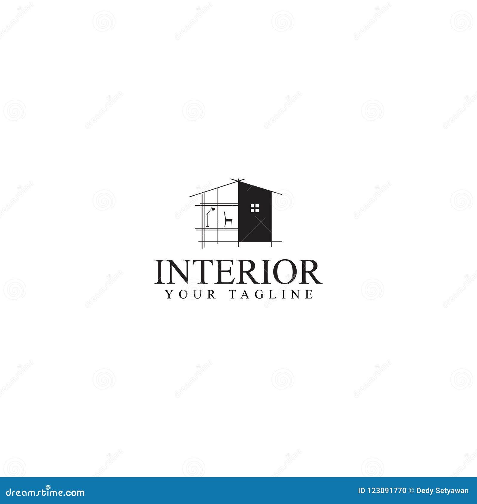 Interior Logo Design, Vector Template Stock Vector ...