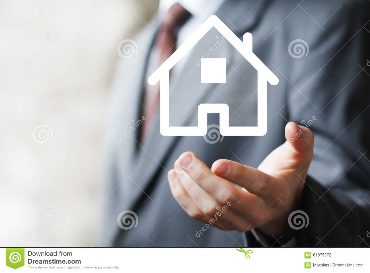 Property insurance house web sign icon home