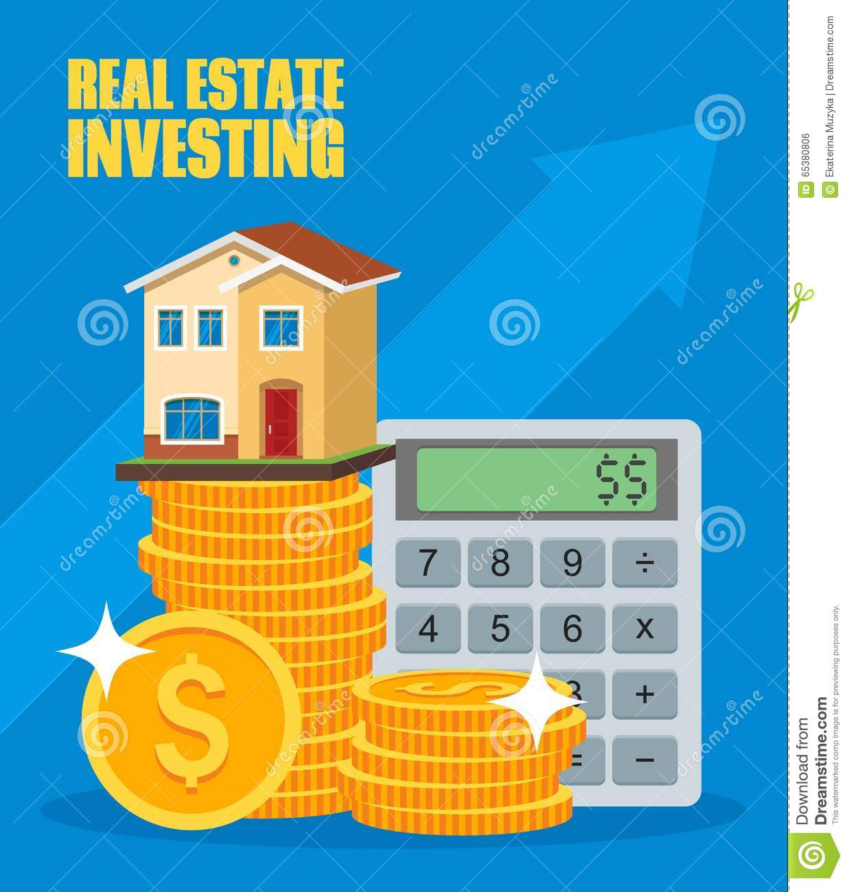 Property Investment Concept House And Real Estate Stock Vector