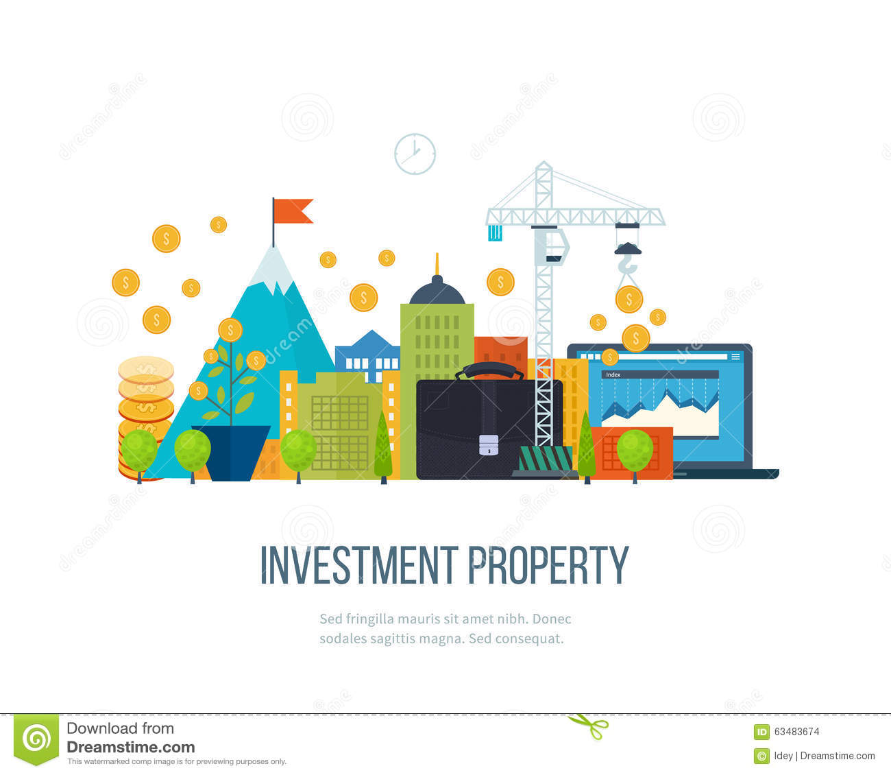 Property Investment  Financial Strategy Concept  Stock