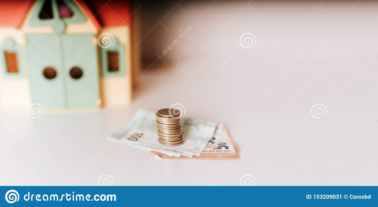 House mortgage loan buy sell price real estate investment money stock photo