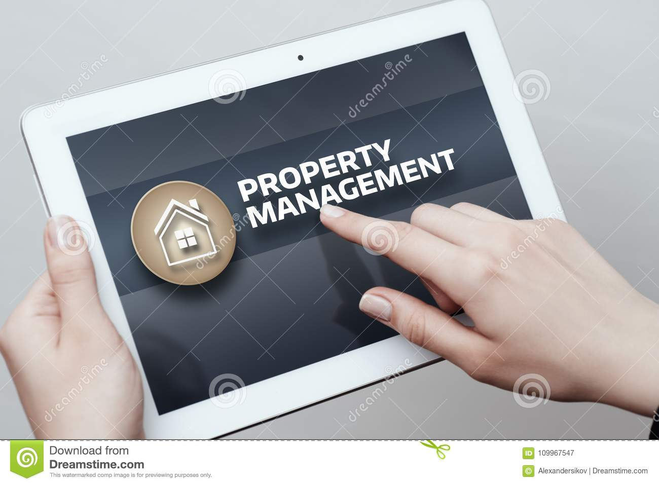 Property Management Real Estate Mortgage Rent Buy concept