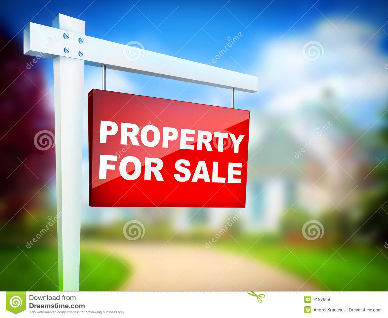Real Estate Tablet - Property For Sale.