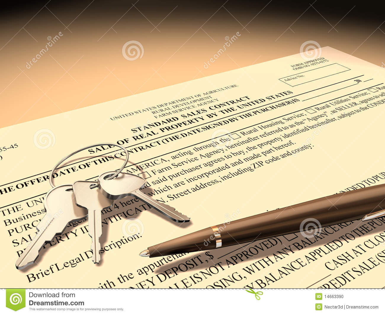 Royalty Free Stock Photo. Download Property Sales Contract ...